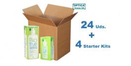 Biotrue 300ml x 24 Pack + 4 Starter Kits