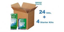 Opti-Free Pure Moist 300ml x 24 Pack + 4 Starter Kits