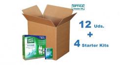 Opti-Free Pure Moist Bipack (2 x 300ml + Kit Viaje) x 12 Pack + 4 Starter Kits