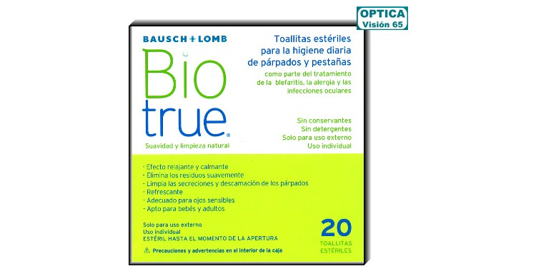 Biotrue Toallitas Estériles 20ud